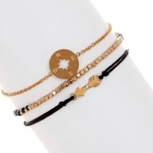 new Loren Olivia aso FP ➼ 14KGP Arrow Bracelet Set
